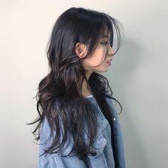 Korean Haircut Long, Korean Long Hair, Hair Korean Style, Haircuts For Long Hair, Long Hair Cuts, Medium Hair Styles, Curly Hair Styles, Ulzzang Hair, Aesthetic Hair