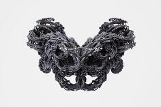 black turbulence | 3d printed necklace | niccolo casas + leyre valiente | www.niccolocasas.com
