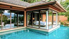 101 Bilder von Pool im Garten - Infinity pool garten schlafzimmer offen glas wand