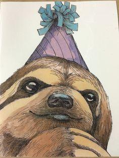 Sloth Birthday Card
