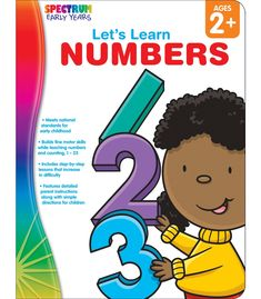 Spectrum Let's Learn Numbers builds fine motor skills while teaching numbers and counting, 1–25. This hands-on workbook offers step-by-step instructions for parents working with children ages 2 and up.  Includes  engaging activities to delight the youngest learners. Its 64 full-color pages will captivate children while enhancing their fine motor skills and learn important skills necessary for preschool and kindergarten.