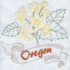 Oregon - Oregon Grape (Redwork)