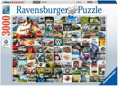 Ravensburger 16018 VW Campervan Moments 3000 Piece Puzzle for Adults - Every Piece is Unique, Softclick Technology Means Pieces Fit Together Perfectly * Check out this great product. (This is an affiliate link) Ravensburger Puzzle, Wooden Puzzles, Jigsaw Puzzles, Puzzle Shop, World Photo, Puzzles For Kids, Puzzle Pieces, Campervan, Time Out