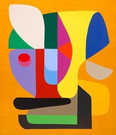 © Stephen Ormandy ~ Attention seeker ~ 2015 Oil on linen at Olsen Irwin Gallery Sydney Australia Abstract Shapes, Geometric Art, Abstract Art, Post Painterly Abstraction, Francis Picabia, Bright Art, Shape Art, Klimt, Fine Art Paper