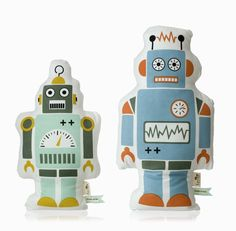 Adorable pillows made of organic cotton.    Mr. Small Robot - Ferm Living - $33.00