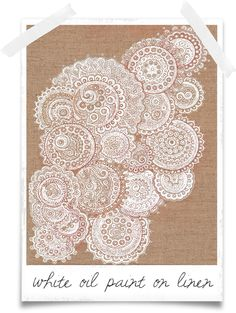Doily Painting