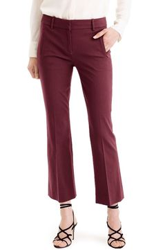 NWT! J.CREW 'Teddie' Bi-Stretch Cotton Blend Pants | SZ 4 | B269 #JCrew #Pants