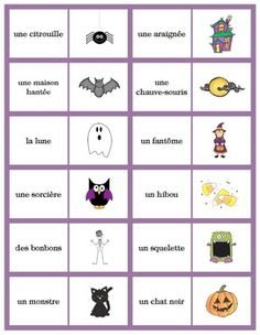 Simple French Halloween Games: Dominoes, Crossword and Halloween Words, Halloween Games, French Teaching Resources, Teaching French, How To Speak French, Learn French, Core French, French School, French Immersion