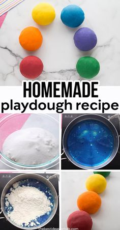 The BEST playdough recipe you will ever try with only 5 ingredients! This homemade playdough is soft, easy to make and lasts for months! Summer Crafts, Summer Fun, Fun Crafts, Crafts For Kids, Kids Diy, Best Homemade Playdough Recipe, Playdough Recipe Cook, Cooked Playdough, Fun Activities For Kids