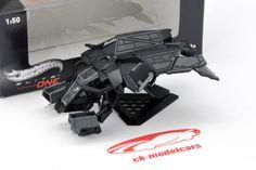CK-Modelcars - BCJ82: Batman the bat plane The Dark Knight Rises schwarz 1:50 HotWheels Elite One, EAN 746775285845