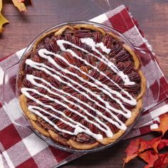 With a cinnamon roll crust, this pecan pie is packed with sweet, nutty goodness.
