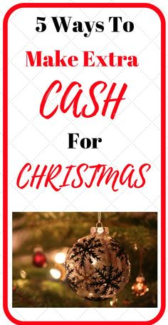 5 ways to make some extra cash for Christmas, this is a list of ways you can earn online and from home. Check out number 1! Its awesome and I didnt know you could earn money doing this. Click here for the full list