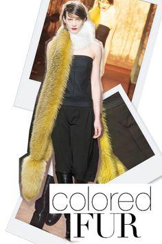 Fall 2013 Fashion Forecast: Colored Fur
