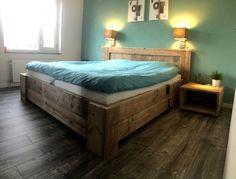 Bed van steigerhout (2 persoons)