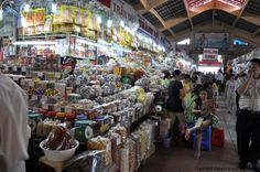 Market in Ho Chi Minh City in Vietnam. Where people get all their needs from food to dishes and everything in between