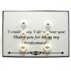 Bridesmaid Pearl Earring Pearl Bridesmaid by StarringYouJewelry on Etsy #wedding #pearlearrings