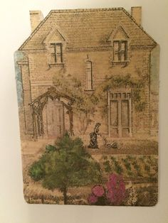 Vintage House Shaped ATC Swap by Sue Whittemore
