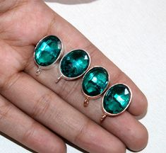 Excited to share the latest addition to my #etsy shop: 1 Pair 15x11mm Gold Plated Faceted Teal Green Quartz Stud Oval Earpost / Gemstone Ear-post / Jewelry Making - Supplies / Select Finish / 10 https://etsy.me/2I3PqlS #supplies #green #beading #brass #gold #raregemsnj