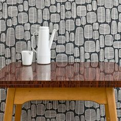 MissPrint Modern Wallpaper | Little Trees in Charcoal