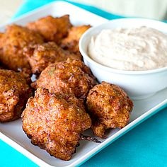 Conch Fritters - could substitute other shellfish like shrimp