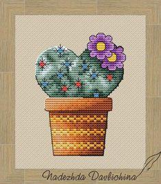 Cactus heart PDF digital cross stitch pattern, Love flower chart for beginner Amazing Flowers, Love Flowers, Cross Stitch Designs, Cross Stitch Patterns, Crochet Stitches, Crochet Hats, Flower Chart, Cactus Flower, Heart Patterns