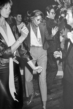 Lauren Hutton, dancing, 1970s.
