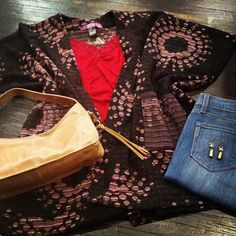 There is no such thing as too many ponchos this fall! Add a couple pops of gold, and you're good to go! #ponchoswag #fallfashion #shoplocal #detailsboutique