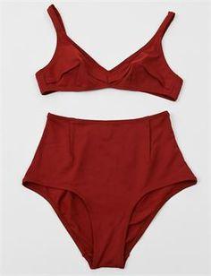 Laura Urbinati 50s High Waist Bikini- Brick