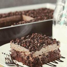 Chocolate Poke Cake #justapinchrecipes