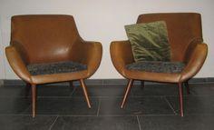 Retro bankstel bank fauteuil x2 vintage zithoek '60 design. BlijeSpullen.nl   Amersfoort www.marktplaats.n...