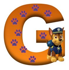 G paw patrol Paw Patrol Party, Paw Patrol Birthday, Cute Alphabet, Alphabet And Numbers, Cumple Paw Patrol, Puppy Party, Mask Party, 3rd Birthday Parties, Scrapbook Stickers