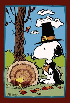 Snoopy wishes everyone a Happy Thsnksgiving