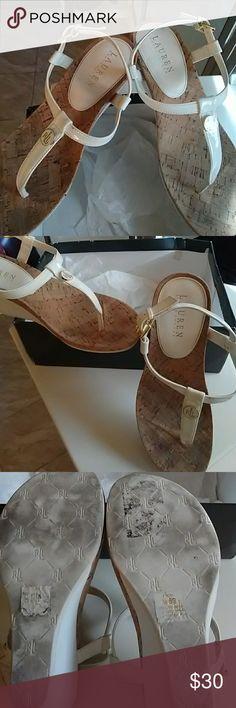 Ralph Lauren white pump I worn them once/twice Ralph Lauren Shoes Wedges