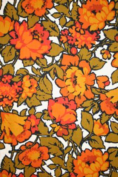 vintage fabric - would love this on some porch furniture. Maybe the seat of a rocking chair.