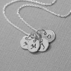 Sterling Silver Initial Necklace, Personalized Sterling Silver Necklace, Casual Necklace, Everyday Necklace, Valentines Gift for Her