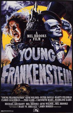 Young Frankenstein (1974) is one of writer-producer- director Mel Brooks' best films - a nostalgic, hilarious spoof-tribute to classic horror films (with its authentic black and white cinematography and production design/set decoration), and in particular, of Mary Shelley's classic novel. This was his follow-up film to his westerns spoof (Blazing Saddles (1974)).