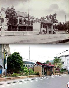 Tjong Afie gebouw te Kesawan , ca 1905, ,.,   Rumah di jl Ahmad Yani, Medan 2015