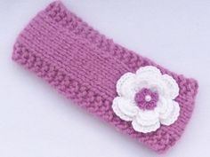 Pale mauve ear warmers / headband /photo prop to by MyfanwysMakes, £8.50