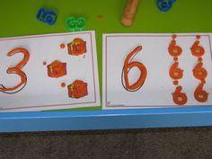 Number Play Dough Activity and Printable Play Dough Mats
