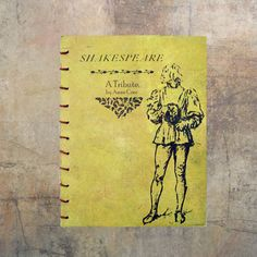 Shakespeare A tribute.Artist book Coptic stitch by modestly