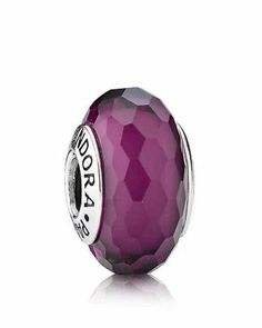 PANDORA Charm - Murano Glass Purple Fascinating  Bloomingdale's