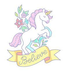 white unicorn emblem vector
