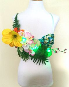 Light Up Tropical rave fairy by NocturnalCulture on Etsy, $88.40