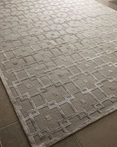 """""""Silver Blocks"""" Rug by Exquisite Rugs at Neiman Marcus"""