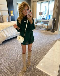 Mommy Style, Style Me, Hunter Boots Outfit, Dress Skirt, Shirt Dress, Knee High Boots, Work Wear, Fall Outfits, Autumn Fashion