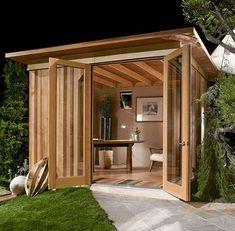 She shed, shedquarters, bolt hole, garden shed, she shack