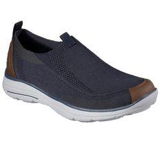 66e56faa4 65233 Navy Skechers shoes Men Memory Foam Casual Comfort Slipon Mesh Soft  Loafer