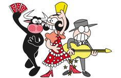 sevillana Cartoon Characters, Fictional Characters, Stick Figures, Minnie Mouse, Applique, Funny Pictures, Projects To Try, Doodles, Artsy