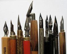 Artimañas: Materiales: Plumillas, palilleros y cálamos - Pens & Inks