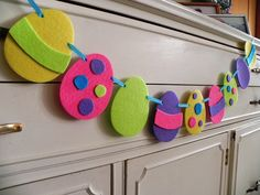 Easter Egg Banner for the Home---Jellybeans and other Sweet Things---A Decorative Felt garland